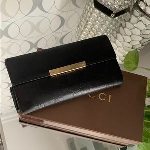 Gucci GG Guccissima Black Leather Wallet